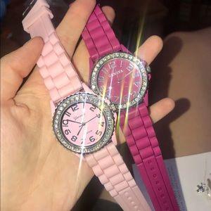 Geneva Pink Watch Set